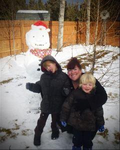 Me and my boys enjoying the snow!